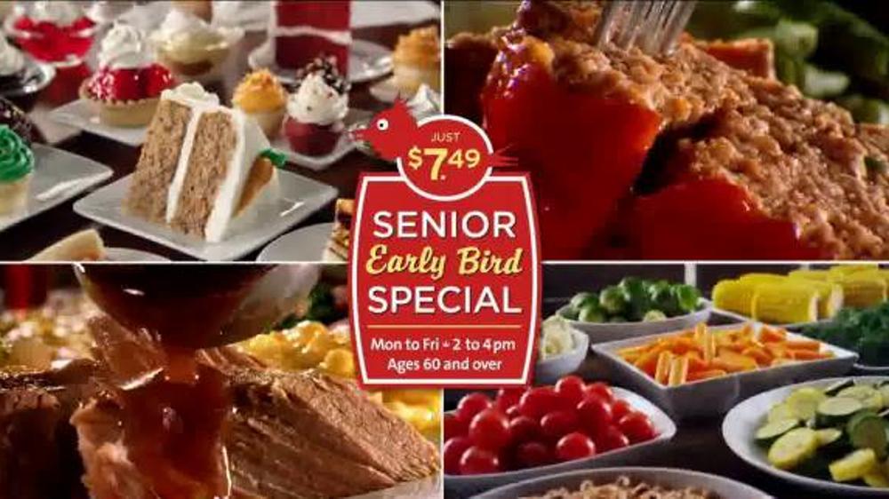Golden Corral Senior Early Bird Special Tv Commercial
