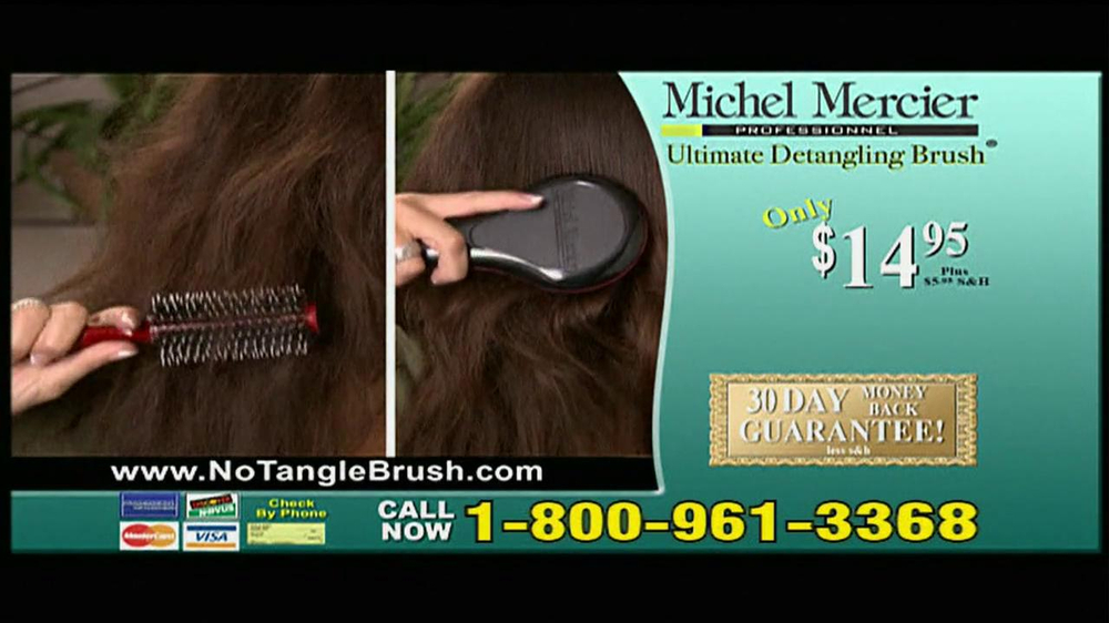 Michel Mercier TV Spot for Ultimate Detangling Brush - Screenshot 9