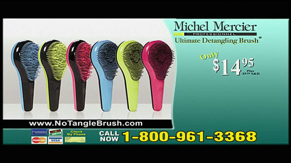 Michel Mercier TV Spot for Ultimate Detangling Brush - Screenshot 8