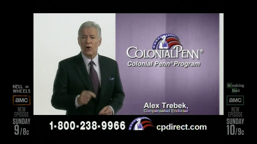 Colonial Penn TV Spotm 'Kitchen' Featuring Alex Trebek - Screenshot 8
