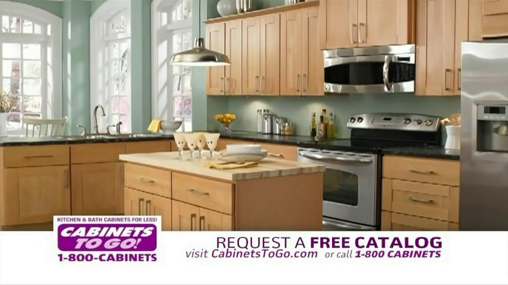 Cabinets to go tv commercial for a new kitchen for Cabinets to go