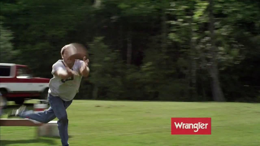 Wrangler TV Spot for UShape Jeans Featuring Brett Favre and Dale Earnhardt - Screenshot 1