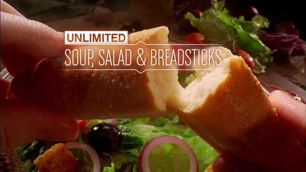 Olive Garden Unlimited Salad And Breadsticks Tv Commercial