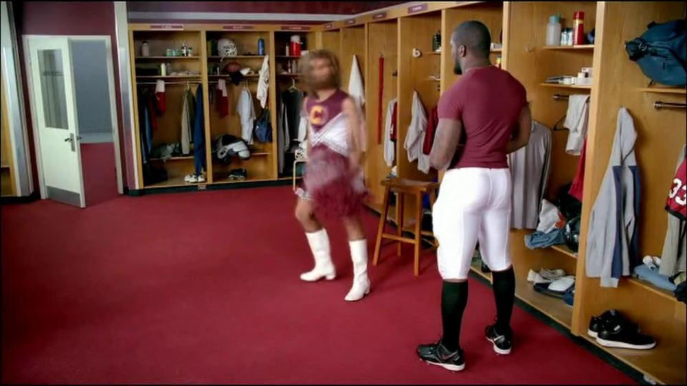 GEICO TV Spot, 'Cheerleader Caveman' Featuring Brian Orakpo - Screenshot 9