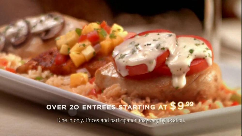 Ruby Tuesday Tv Commercial For Entrees Starting At