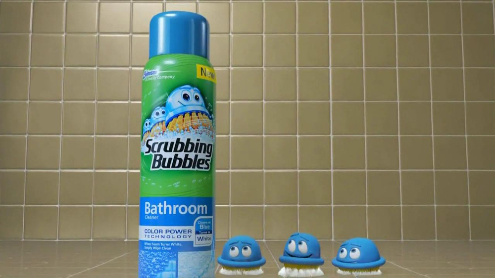 Scrubbing Bubbles Tv Commercial For Color Power Bathroom Cleaner