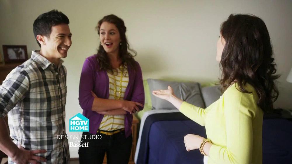 Bassett TV Spot for HGTV Home Design Studio Bedroom - Screenshot 1