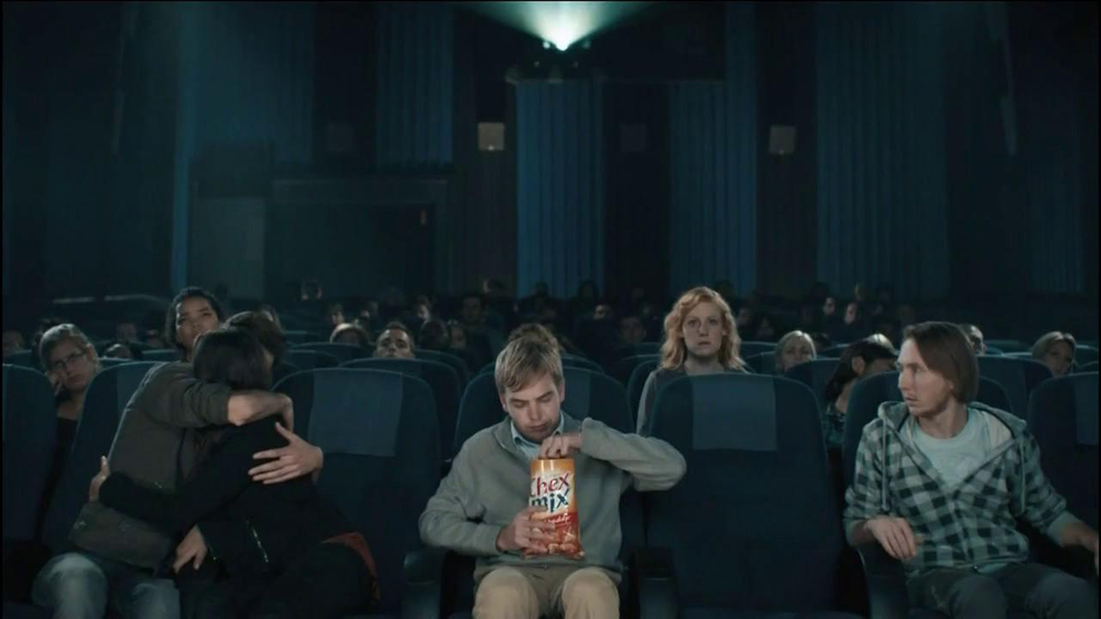 Chex Mix TV Spot, 'Boring Popcorn Decoy Bucket' - Screenshot 1