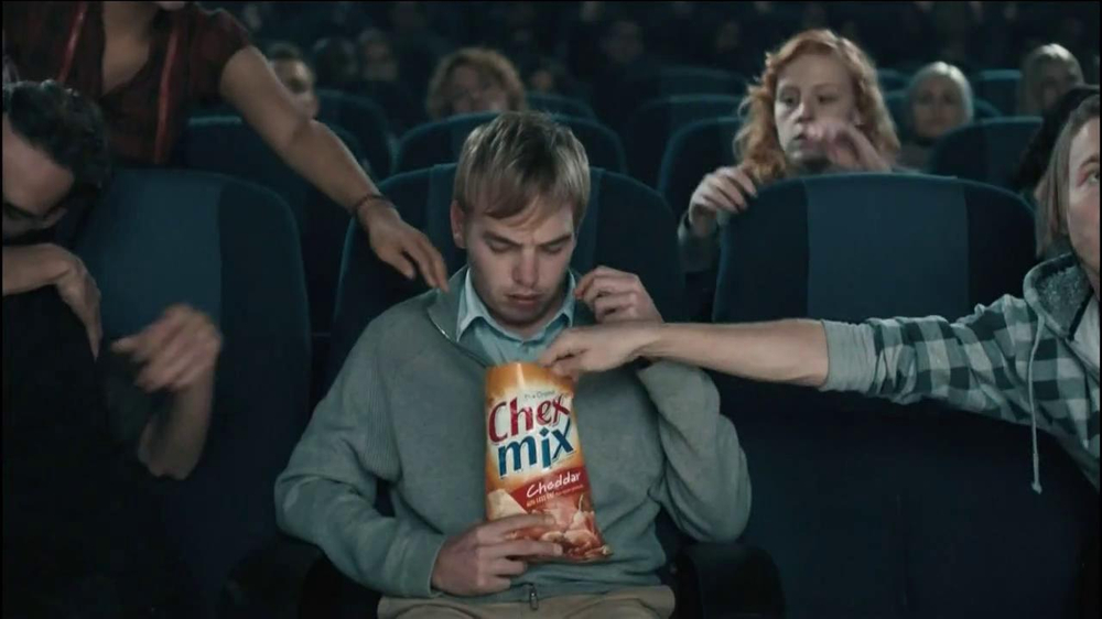 Chex Mix TV Spot, 'Boring Popcorn Decoy Bucket' - Screenshot 2