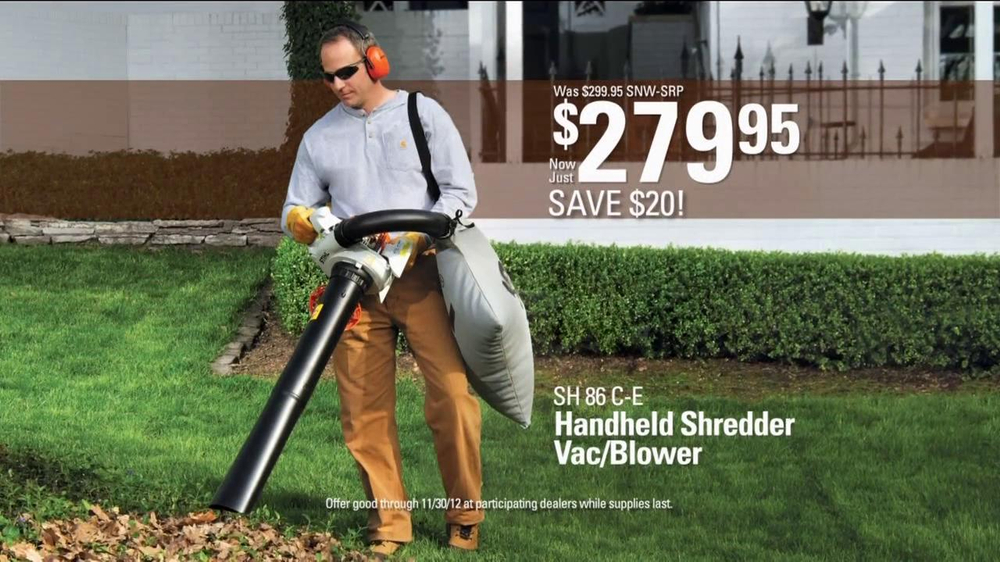 Stihl SH 86 C-E Shredder Vac/Blower TV Spot - Screenshot 4