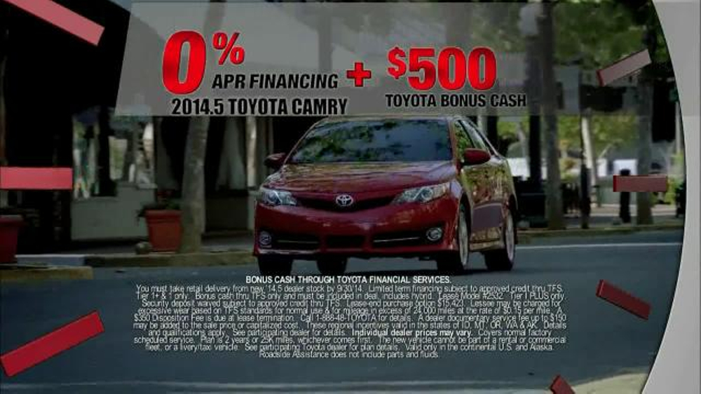 2014 5 toyota camry tv spot 39 last chance clearance 39. Black Bedroom Furniture Sets. Home Design Ideas