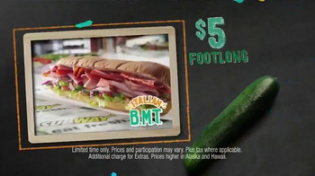 Subway Italian BMT Footlong TV Spot, 'Meat Lovers, Rejoice!'