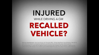 Kyros Law Group TV Spot, 'General Motors Recalled Vehicles'