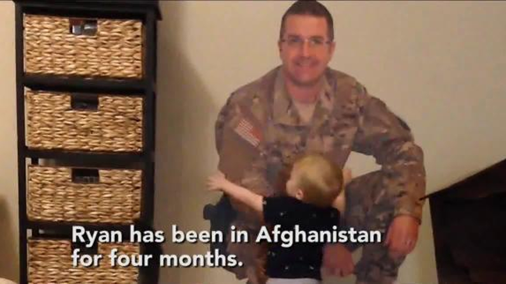 Fathead TV Spot, 'Military Dad is Home with His Son'