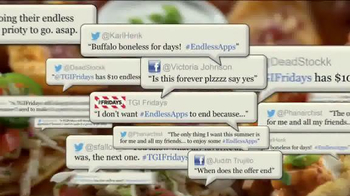 T.G.I. Friday's Endless Appetizers TV Spot, 'Keep 'em Coming'