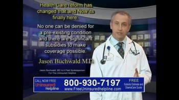 Uninsured Helpline TV Spot, 'Your Obamacare is Now Available'