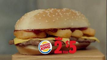 Burger King 2 for $5 Menu TV Spot, 'Extra Long BBQ Cheeseburger'