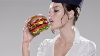 Carl's Jr. Mile High Bacon Thickburger TV Spot, 'Attendant'