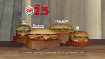 Burger King Extra Long BBQ Cheeseburger TV Spot, 'Mucho Mejor' [Spanish]