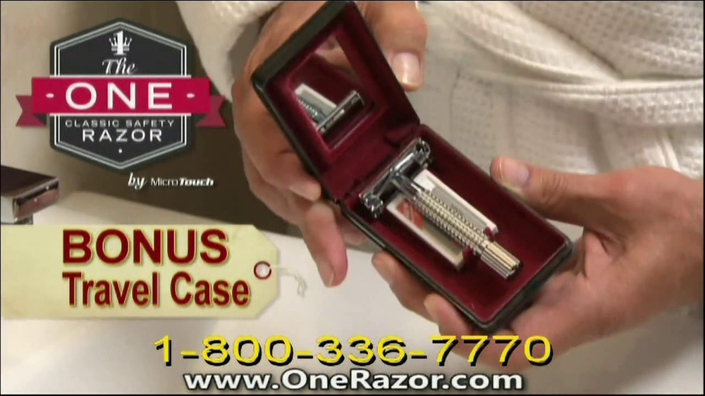 One Razor by Micro Touch TV Spot Featuring Rick Harrison - Screenshot 9