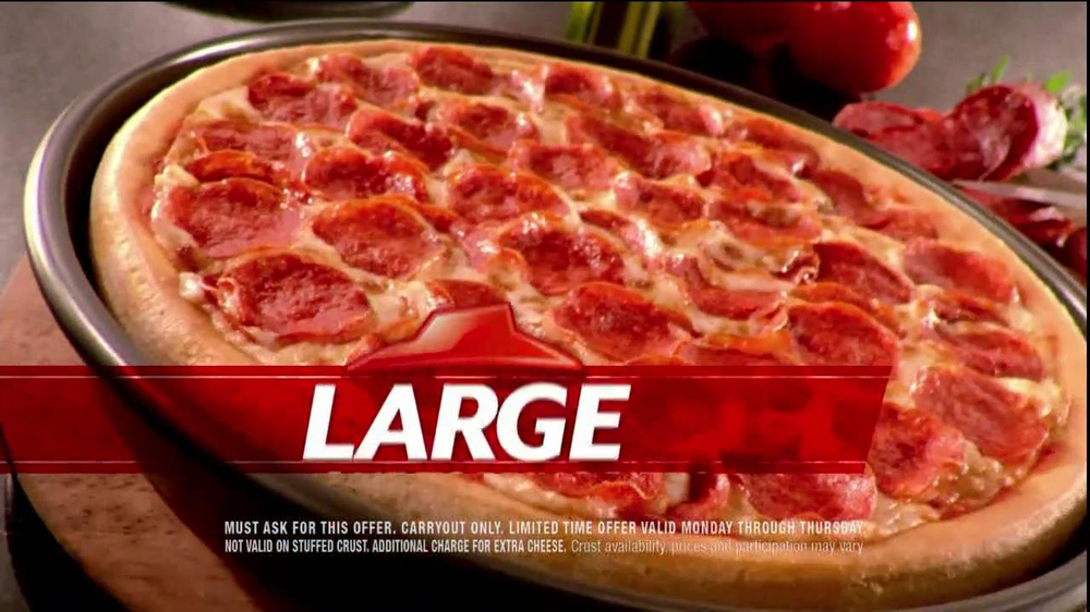 Pizza Hut $6.55 Large One-Topping Carryout TV Spot - Screenshot 6