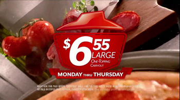 Pizza Hut $6.55 Large One-Topping Carryout TV Spot - Thumbnail 9