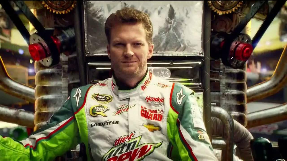 Diet Mountain Dew TV Spot, 'Living Portrait' Featuring Dale Earnhardt, Jr. - Screenshot 1