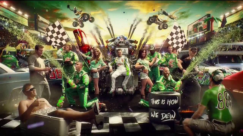 Diet Mountain Dew TV Spot, 'Living Portrait' Featuring Dale Earnhardt, Jr. - Screenshot 5