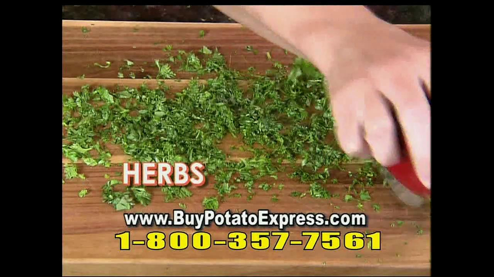 Potato Express With Recipe Guide & Super Slicer TV Spot - Screenshot 9