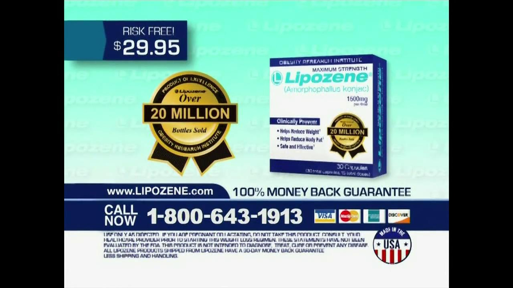 Lipozene TV Spot, '1 Million Bottles Sold'