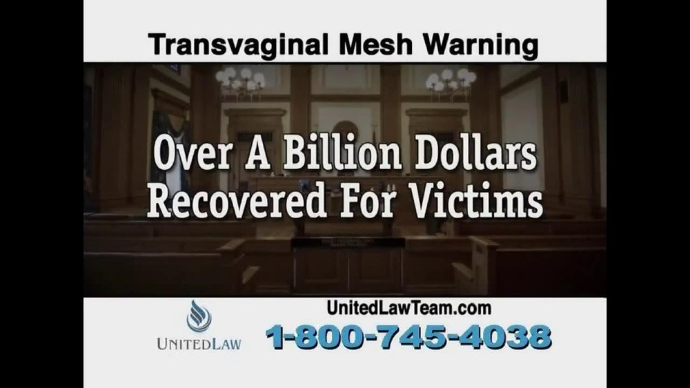 United Law TV Spot, 'Transvaginal Mesh Warning' - Screenshot 10