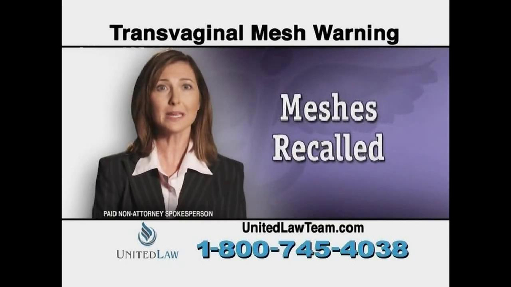 United Law TV Spot, 'Transvaginal Mesh Warning' - Screenshot 3