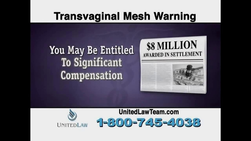 United Law TV Spot, 'Transvaginal Mesh Warning' - Screenshot 5