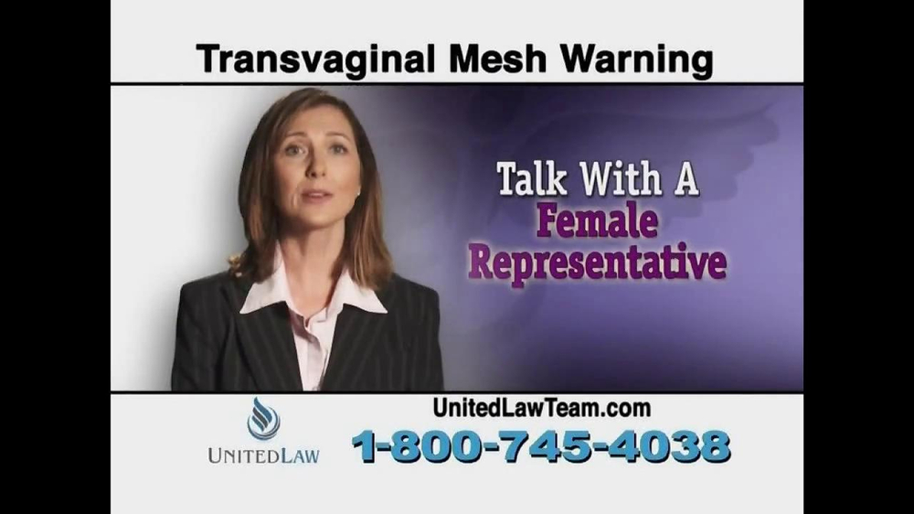 United Law TV Spot, 'Transvaginal Mesh Warning' - Screenshot 7