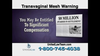 United Law TV Spot, 'Transvaginal Mesh Warning' - Thumbnail 5