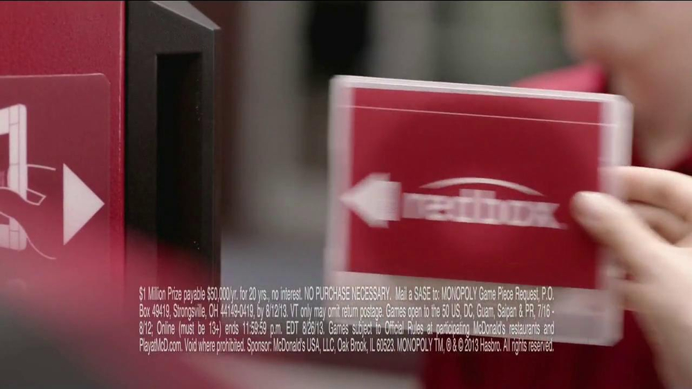 McDonald's Monopoly TV Spot, 'Prizes' - Screenshot 4