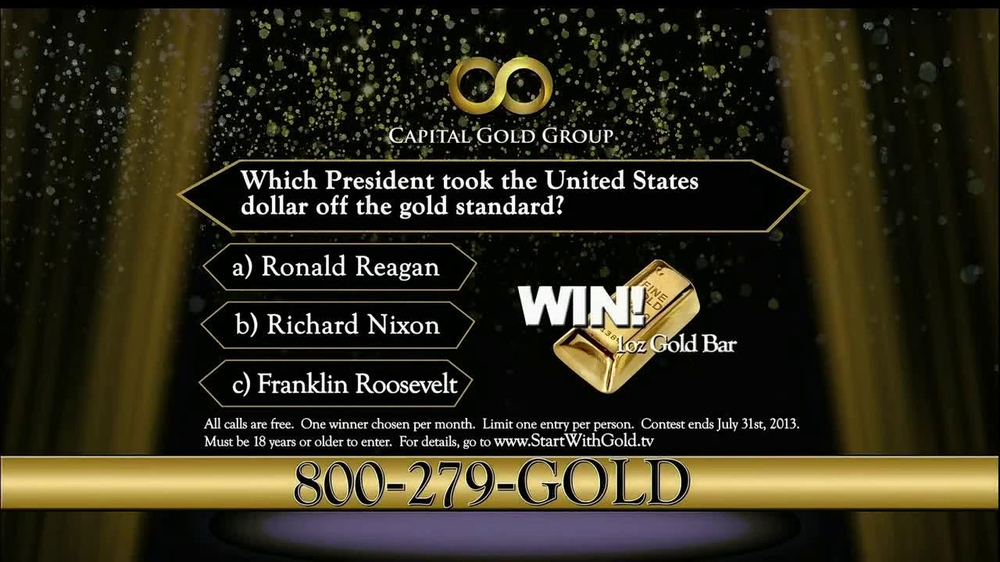 Capital Gold Group TV Spot, 'One-ounce Gold Bar' - Screenshot 10