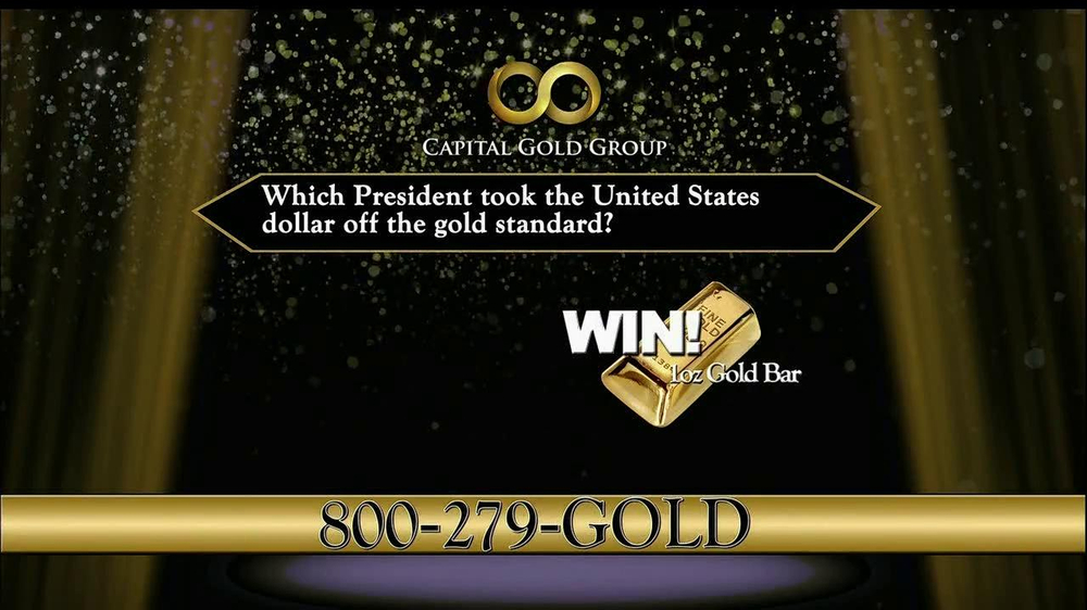 Capital Gold Group TV Spot, 'One-ounce Gold Bar' - Screenshot 4