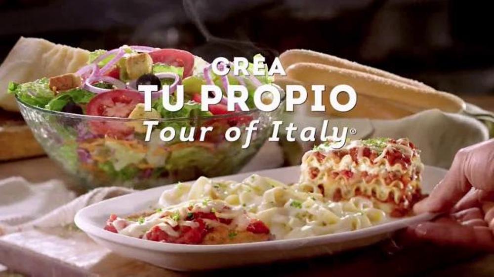 Olive Garden Crea Tu Propio Tour Of Italy Tv Spot 39 Primera Vez 39 Spanish