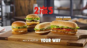 Burger King Teriyaki Original Chicken Sandwich TV Spot, 'This is It' thumbnail