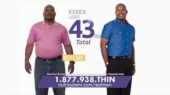 Nutrisystem Fast 5+ TV Spot, 'Real Men' thumbnail