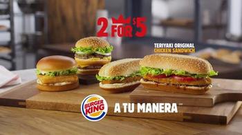 Burger King Teriyaki Original Chicken Sandwich TV Spot, 'Así Es' [Spanish] thumbnail