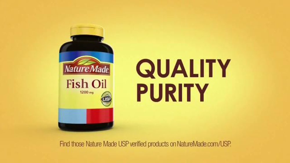 Nature made tv commercial 39 number one recommended fish for Recommended fish oil