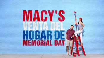 Macy's La Venta del Hogar de Memorial Day TV Spot, 'Almohadas' [Spanish] thumbnail