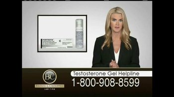 Brown & Crouppen, P.C. TV Spot, 'Testosterone Gel Helpline'