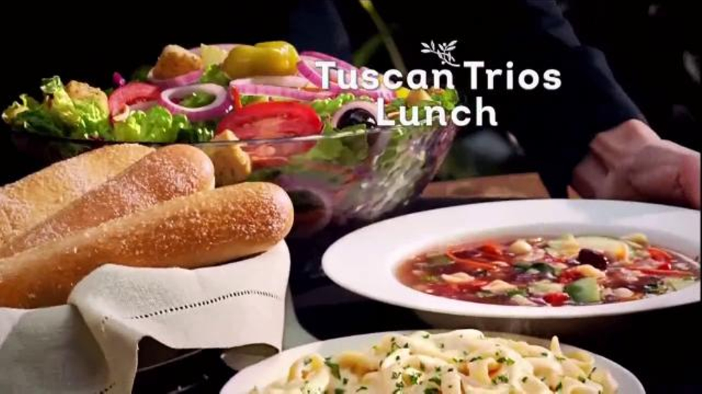 Olive Garden Tuscan Trios Lunch Tv Commercial 39 Soup Salad And Breadsticks 39