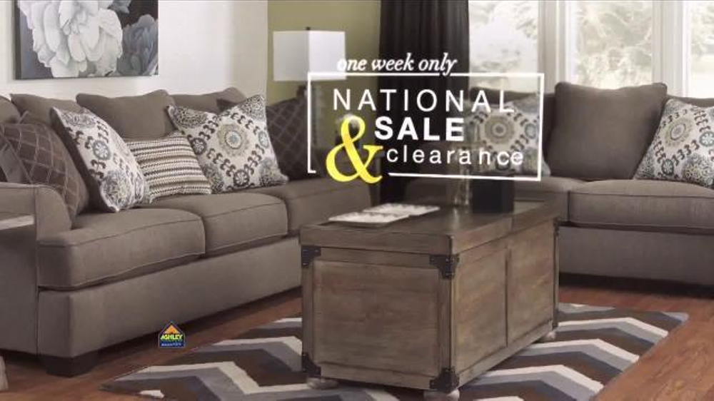 Ashley furniture homestore national sale clearance event for P s furniture flyer