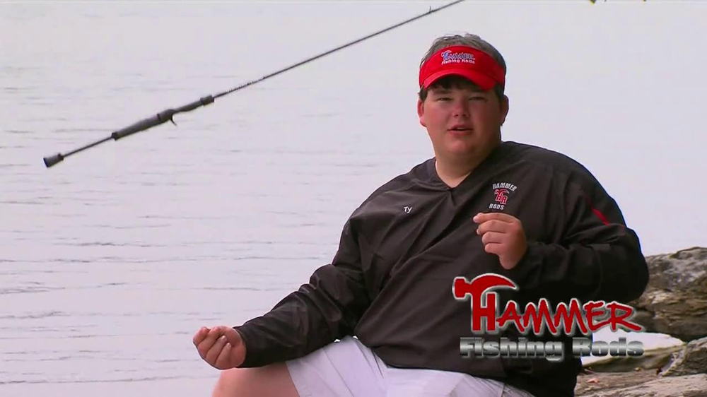 Hammer fishing rods tv commercial 39 perfect bass rod for Hammer fishing rods