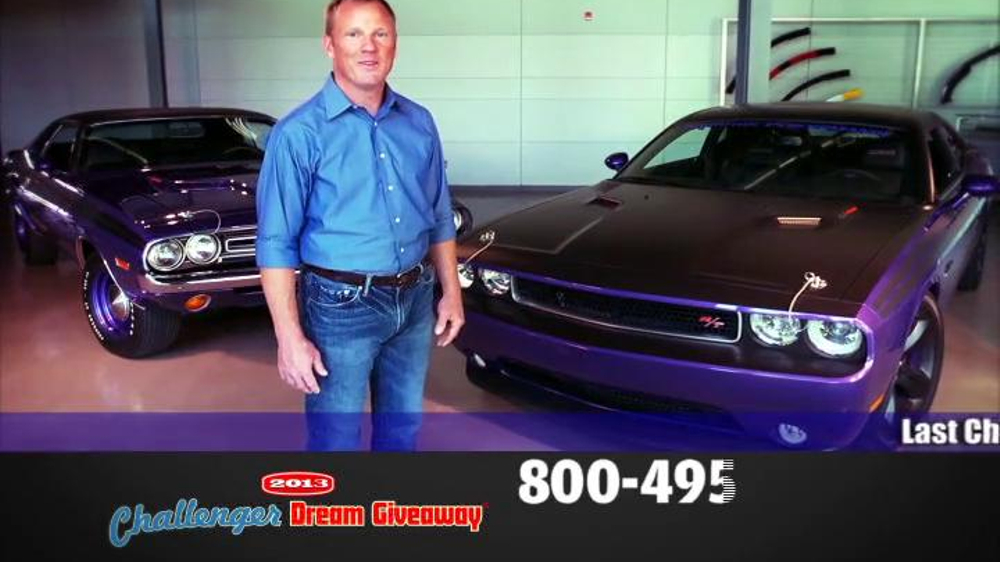 2014 Challenger Dream Giveaway TV Spot - Screenshot 2