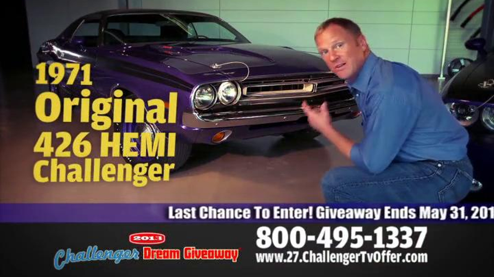 2014 Challenger Dream Giveaway TV Spot - Screenshot 3